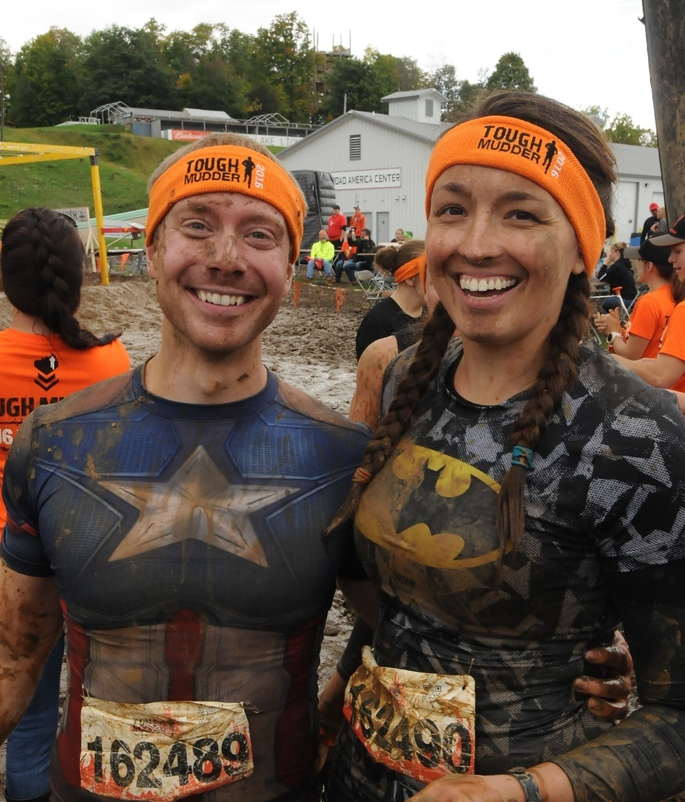 Trevor and Sara after the Wisconsin Tough Mudder