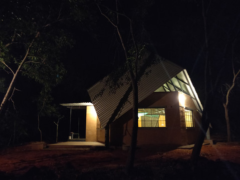 Night view of the structure