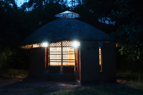 View of the structure in the night