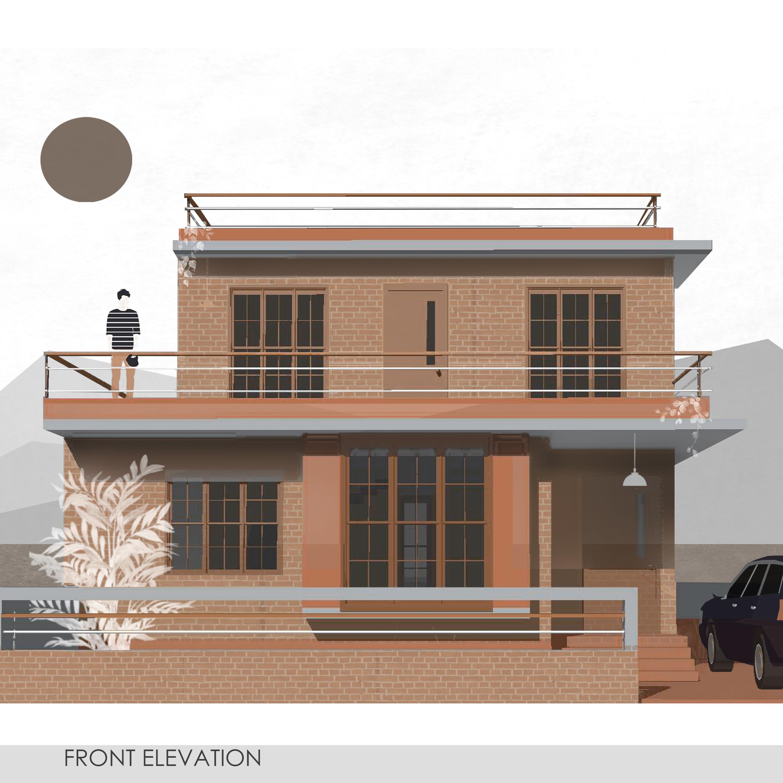 Raghu House - Elevation