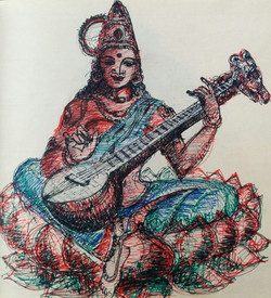 Sketch of Saraswati