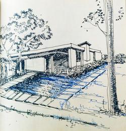 A building sketch