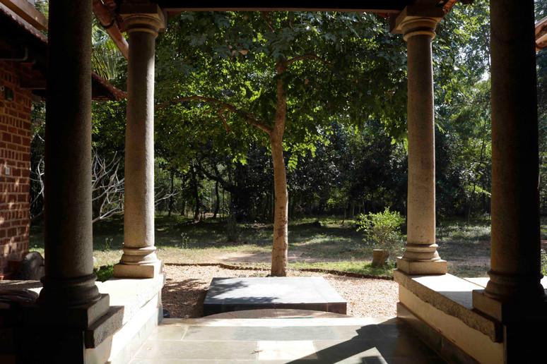 Thinnai with kolam deck
