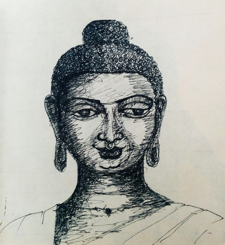 Sketch of Buddha