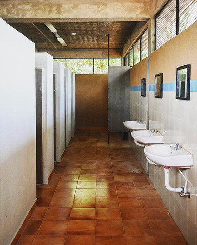 Interiors of the toilet block