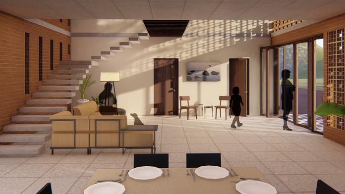 Living room - render