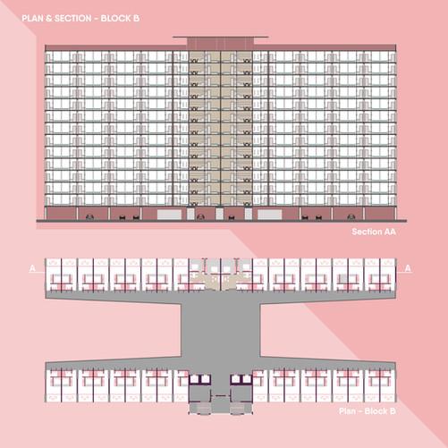 Plan & Section - Block B