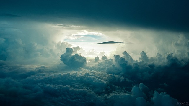 View through the clouds