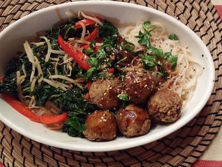 Vermicelles aux boulettes de tofu