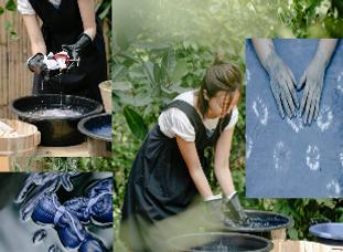 Teñido textil con pigmentos naturales. C