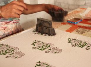 Impresión botánica en tela y papel. Cent
