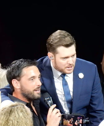 Michael Buble sings with Tom Cary at NEC Birmingham