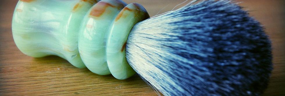 Handturned Badger Shave Brush (large) - Jade Green Resin