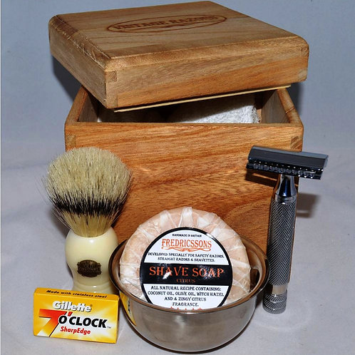 Fredricssons Shave Set in Wooden Presentation Box
