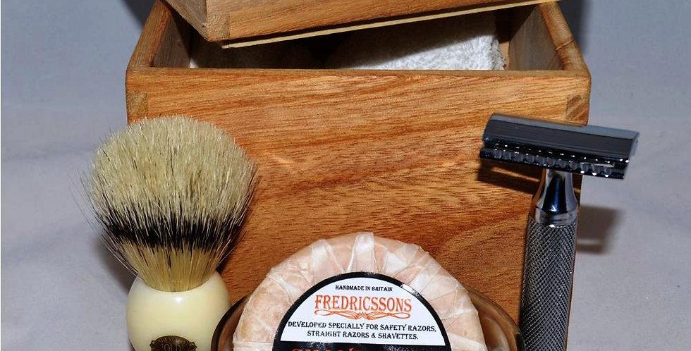 Fredricssons Shave Set in Wooden Presentation Box