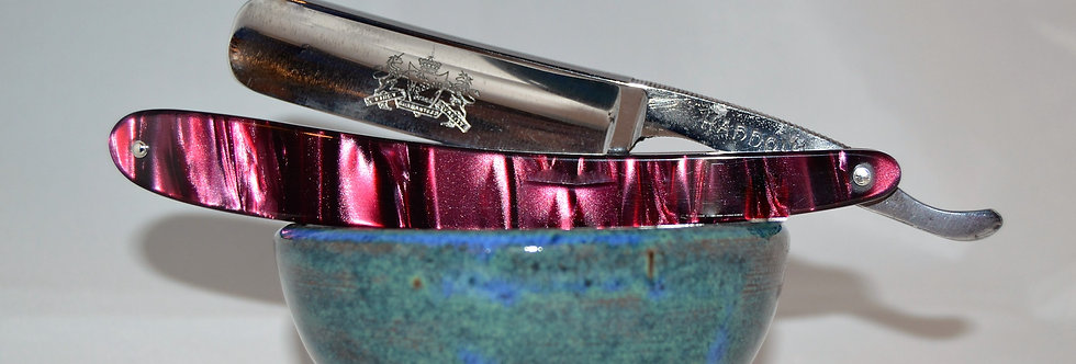 "Vintage Haddon 5/8"" Straight razor in Purple Kirinite."