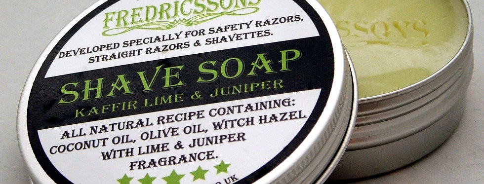 Fredricssons Shave Soaps in Tin - various fragrances
