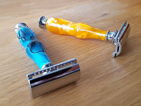just turned a couple of lovely safety razors