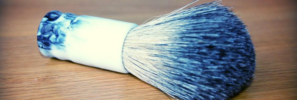 Handturned Badger Travel Shave Brush - Guinness Pattern