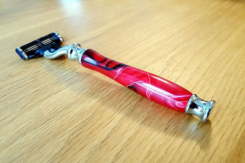 Fredricssons Hand Turned Mach 3 Razor - Red