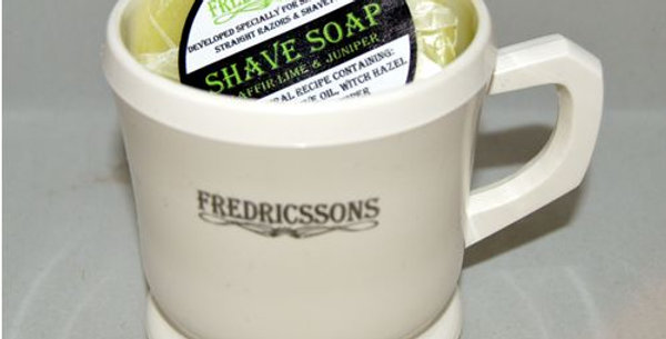 Traditional Shaving Mug & Soap - Various fragrances