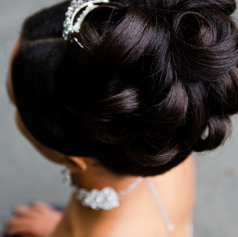 Curled Prom updo