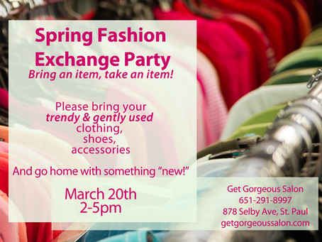 St. Paddy's Day + Fashion Exchange Party!