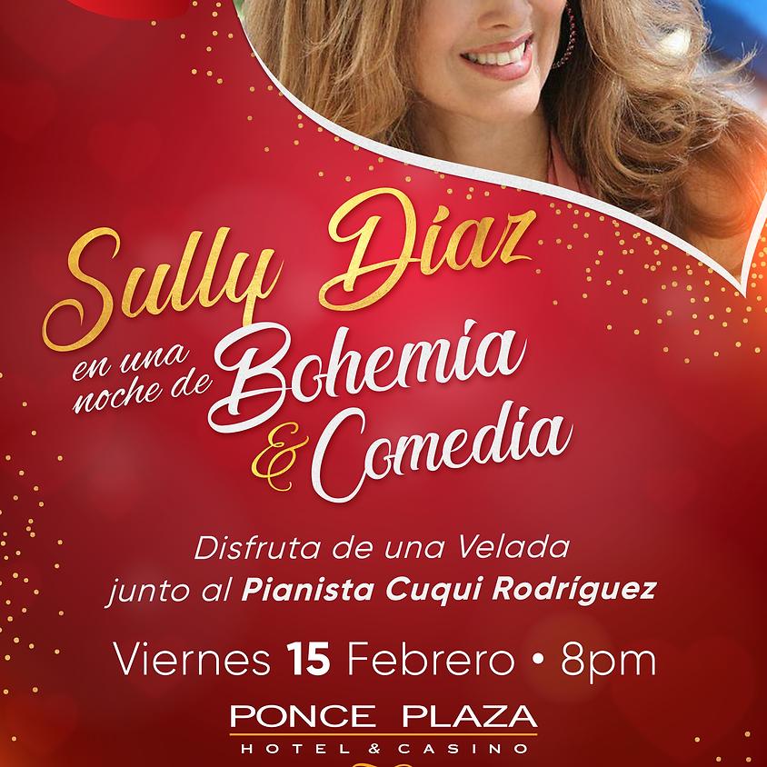 Sully Díaz en una noche de Bohemia & Comedia