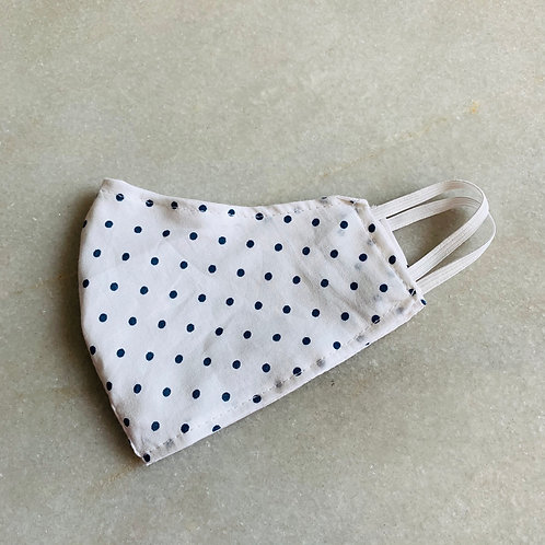 Blue dotted - Cotton Mask
