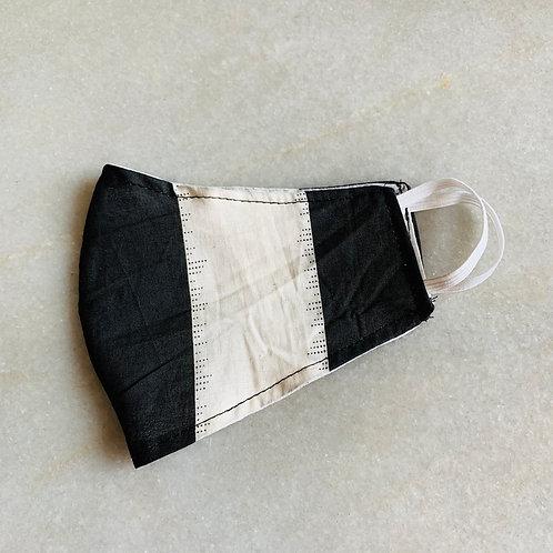 Black Strips- Cotton Mask