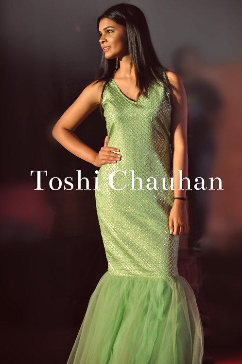 Light Green Mermaid Gown