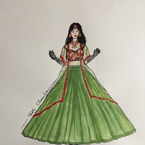 Floral Shrug Dress
