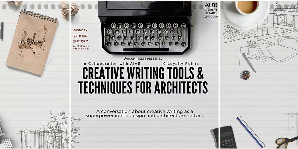 Creative Writing Tools & Techniques for Architects