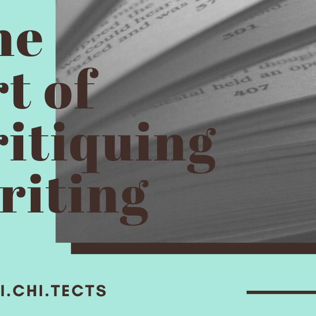 The Art of Critiquing Writing