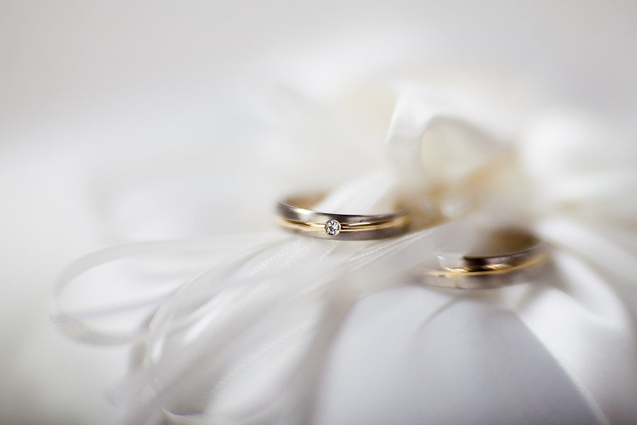 Ringe auf der Hochzeit