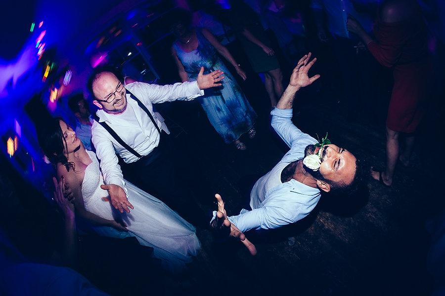 Tanz von Hochzeitsgästen