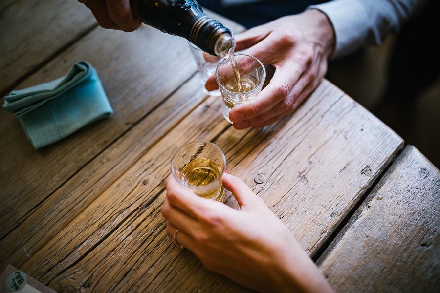 Alkohol auf einer Hochzeit