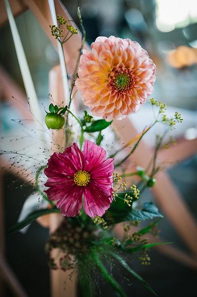 Hocheitsblumen auf einer Hochzeit