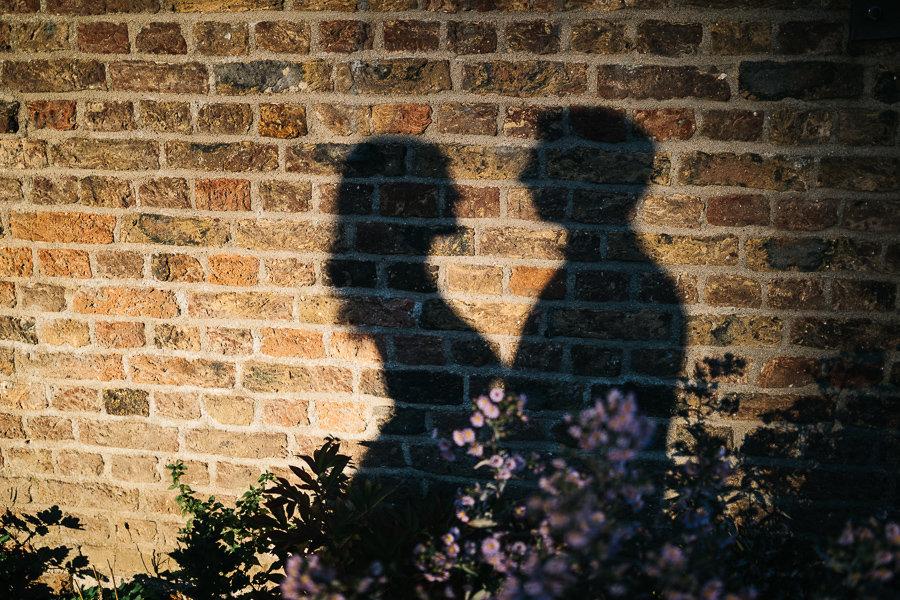 Der Schatten des Brautpaars