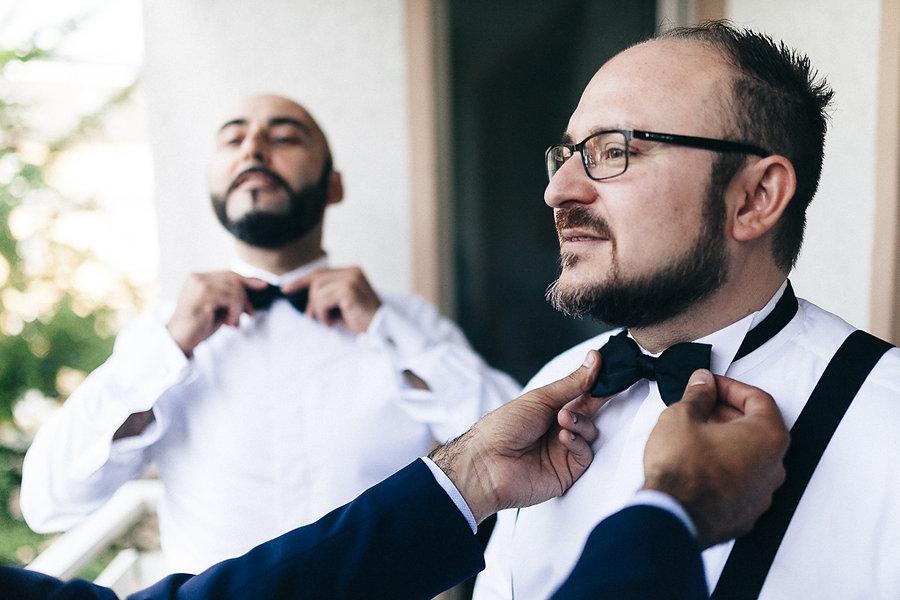 Fliege bei der Hochzeit anstatt Kravatte