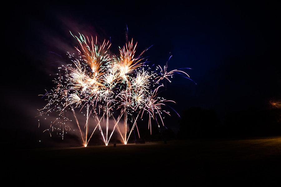 Feuerwerk auf einer Hochzeit