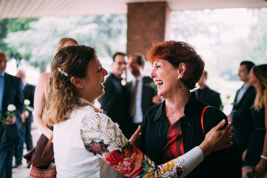 Freude auf der Hochzeit
