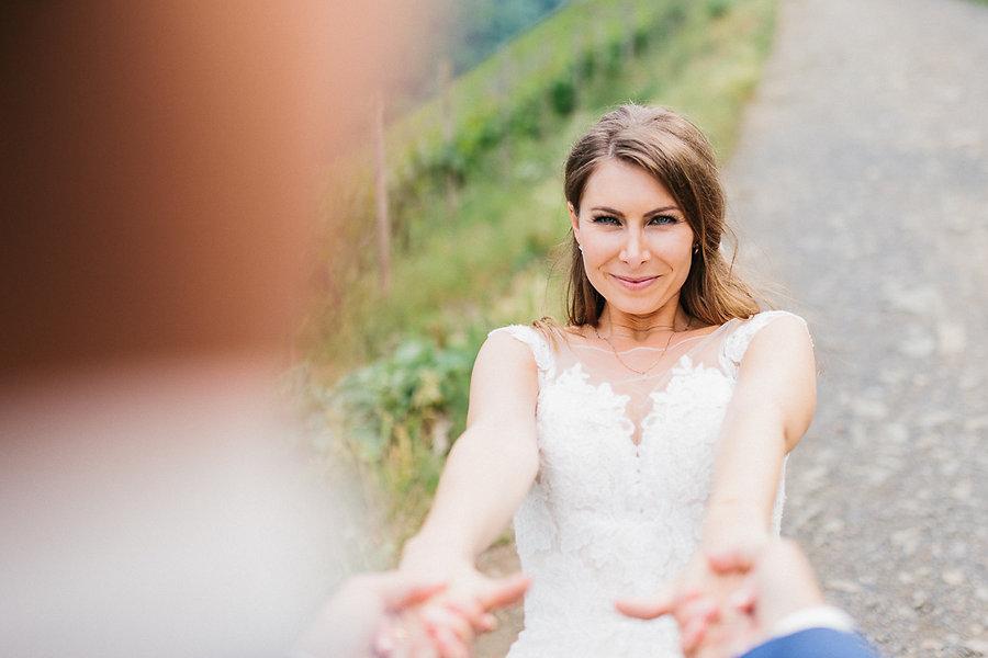 Braut beim Brautpaarshooting