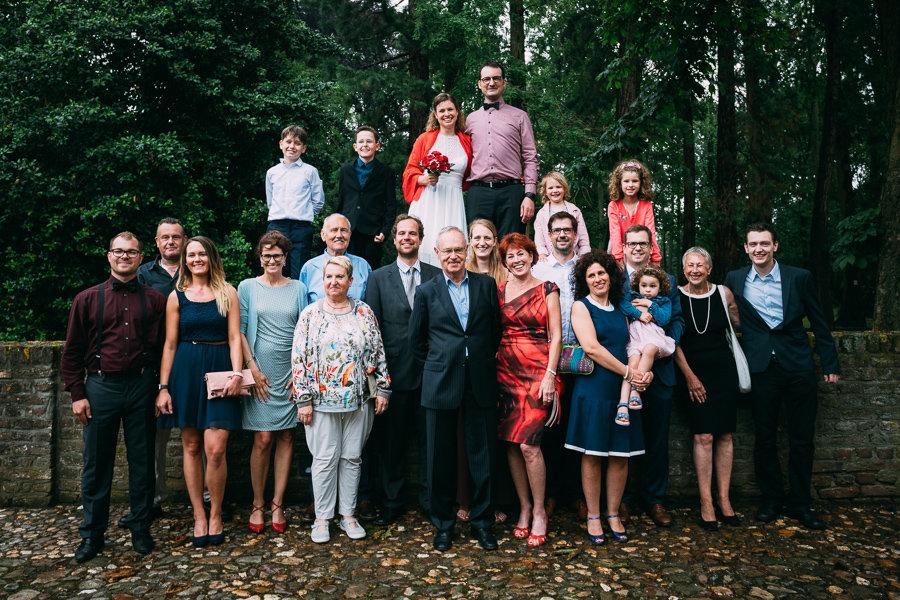 Gruppenfoto der Hochzeitsgesellschaft