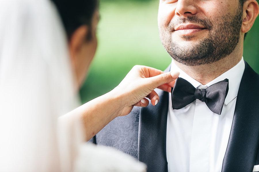 Fliege anstatt Kravatte bei der Hochzeit