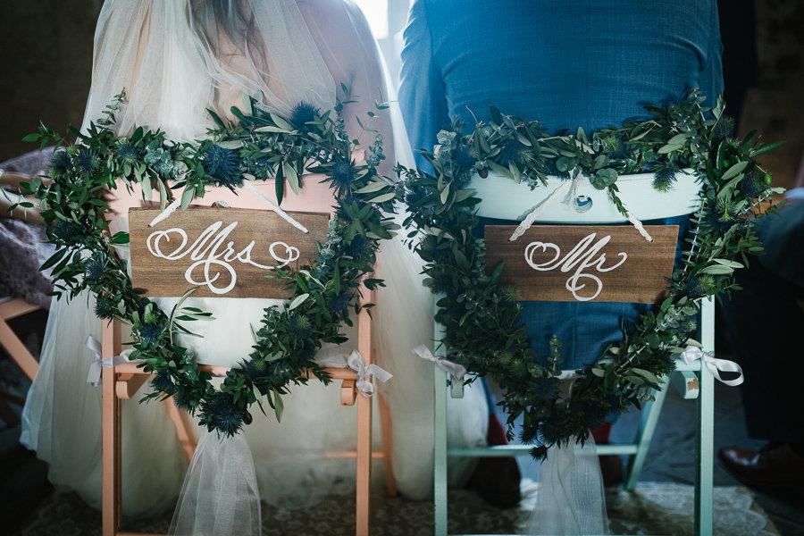 Dekoration auf einer Hochzeit