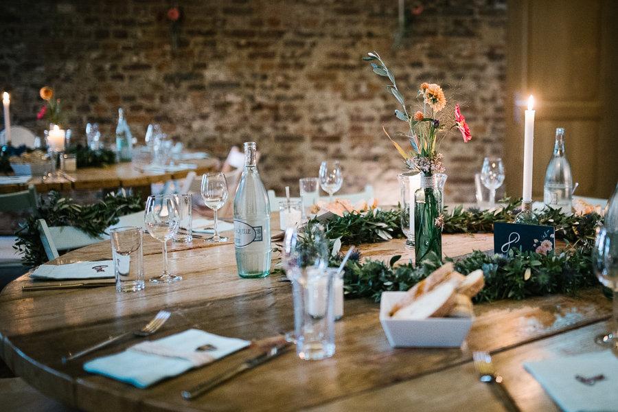 Dekoration auf der Hochzeit