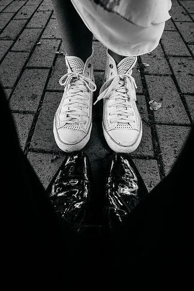 Chucks anstatt hohe Schuhe