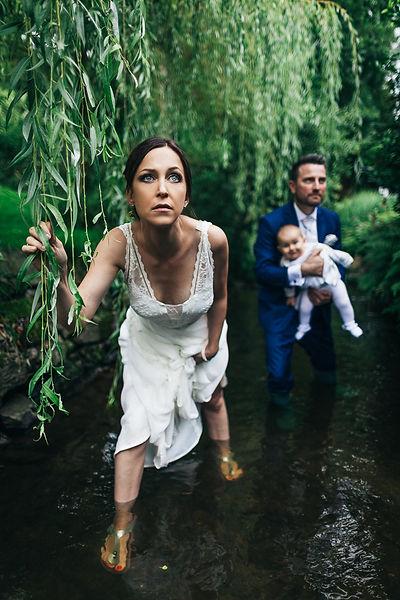 Brautpaarshooting im Fluss
