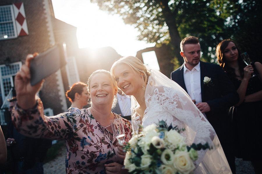 Selfie mit der Braut